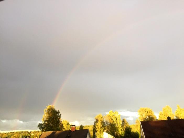 Något vackert kommer med regnet