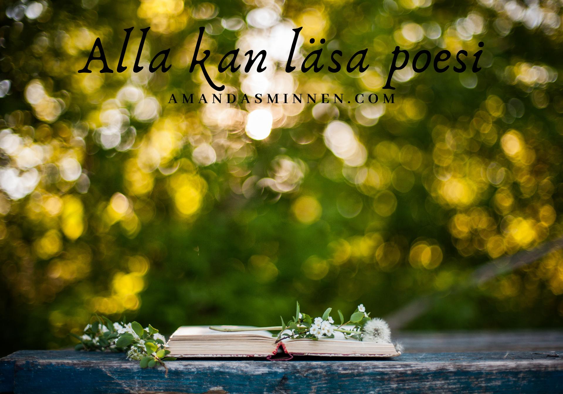 Alla kan läsa poesi