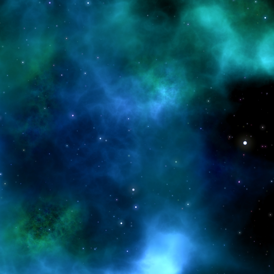 Canva - Blue Galaxy Background